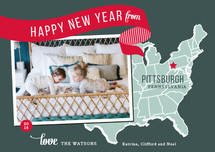 Holiday Map - East Coast Holiday Postcards By Jill Means