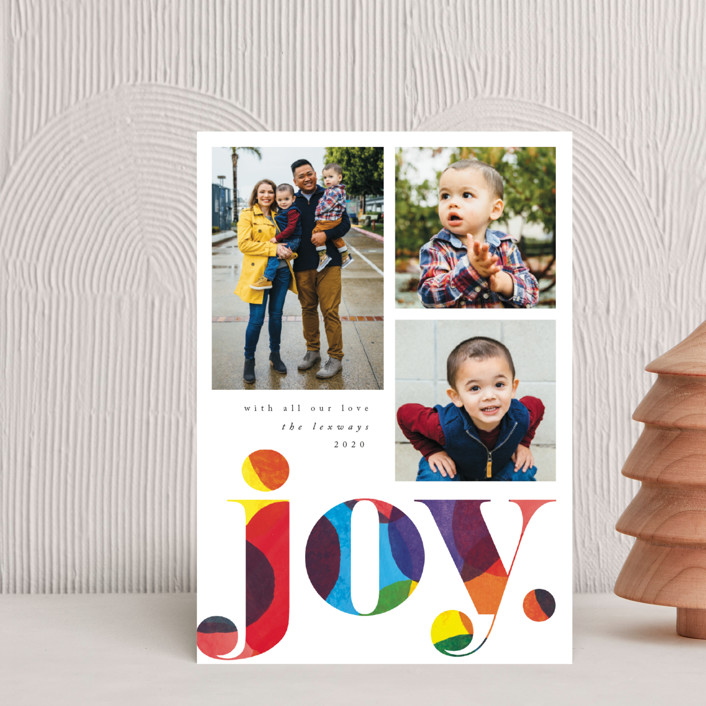 """""""Big Confetti"""" - Holiday Postcards in Rainbow by Catherine Culvenor."""
