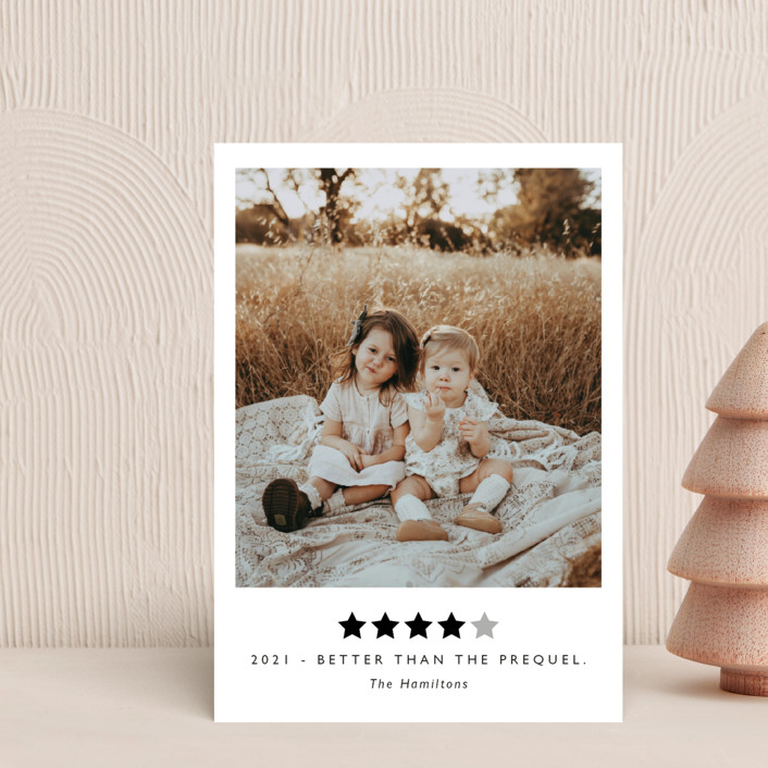 """""""Rating 2020"""" - Funny Holiday Postcards in Snow by Caitlin Considine."""