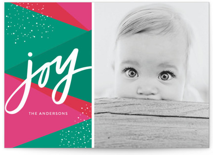 Bright Geo Joy Holiday Postcards