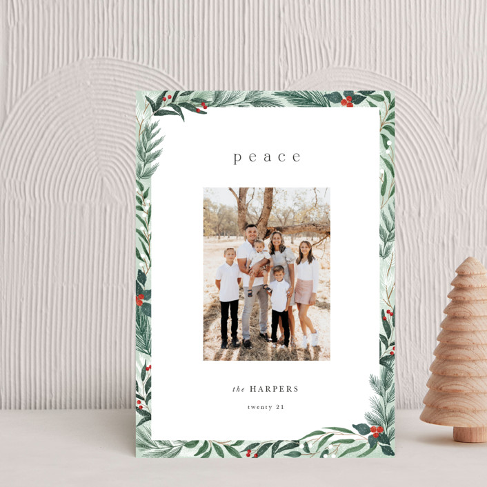 """""""Frosty"""" - Holiday Postcards in Mint by Elly."""