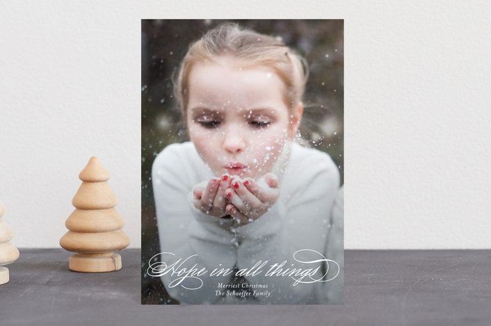 """Hopeful"" - Holiday Postcards in Snow by Jessica Williams."