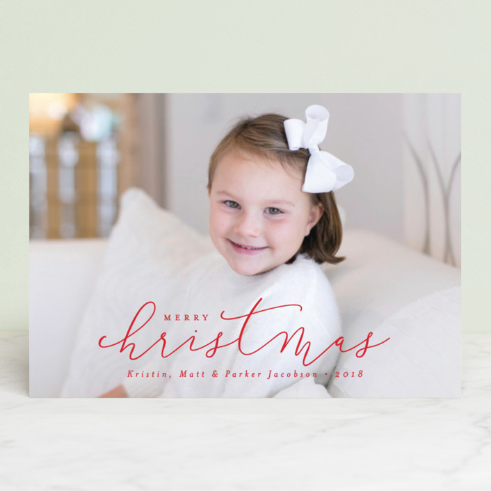 """""""Simply Christmas"""" - Holiday Postcards in Berry by peony papeterie."""