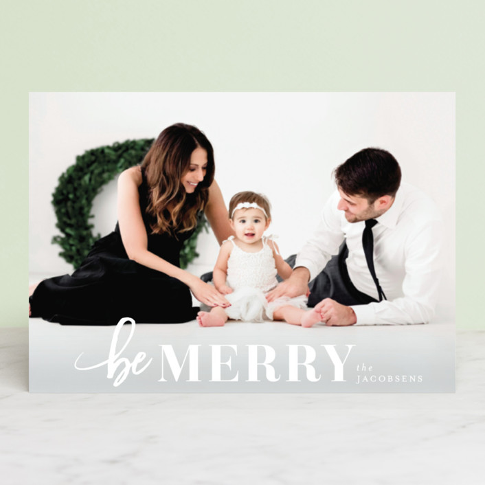 """""""Merriest Holiday"""" - Holiday Postcards in Snow by Shirley Lin Schneider."""
