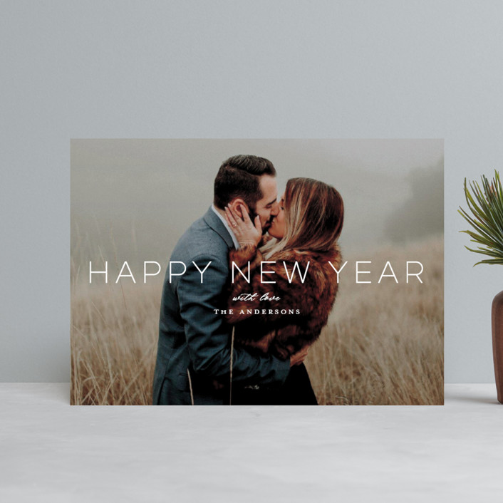 """""""Holiday Loves"""" - Holiday Postcards in Snow by Little Print Design."""