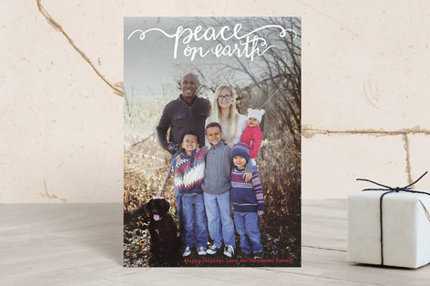 Hand Painted Peace on Earth Holiday Postcards