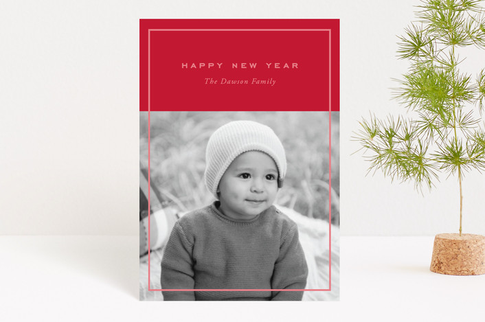 """Clean and Simple"" - Holiday Postcards in Candy Cane by Oscar & Emma."
