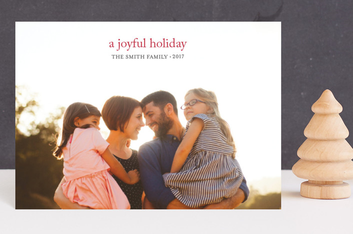 """""""a joyful new year"""" - Holiday Postcards in berry by Loren Willis."""