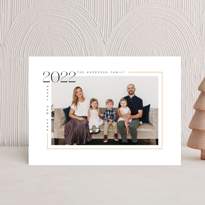 """""""Aesthetic New Year"""" - Holiday Postcards in Champagne by MC designs."""