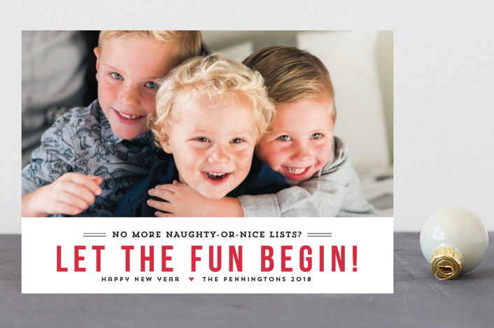 """""""Fun Begins"""" - Funny Holiday Postcards in Berry by Susan Brown."""