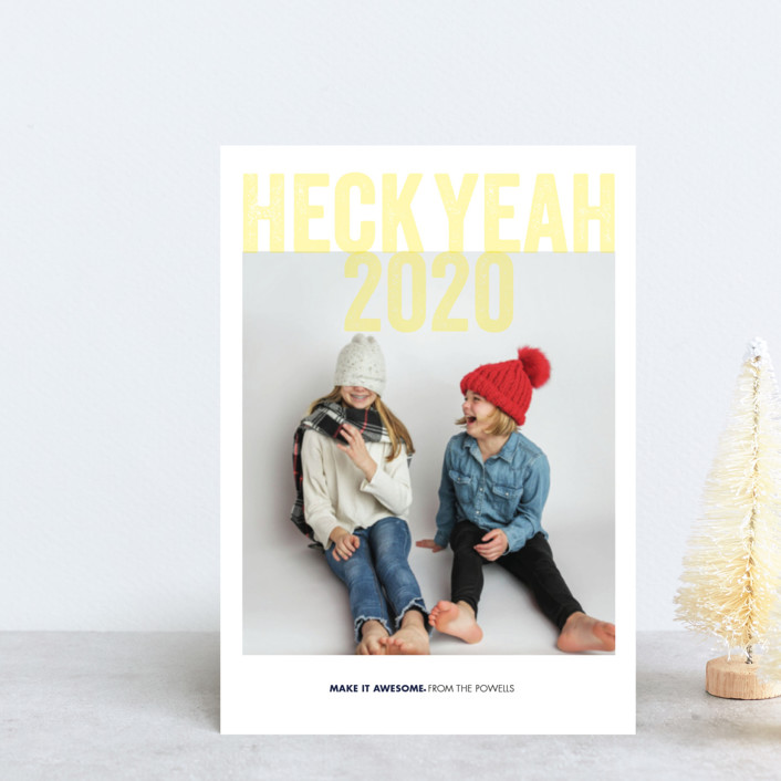 """Heck Yeah"" - Funny Holiday Postcards in Corn by Eric Clegg."