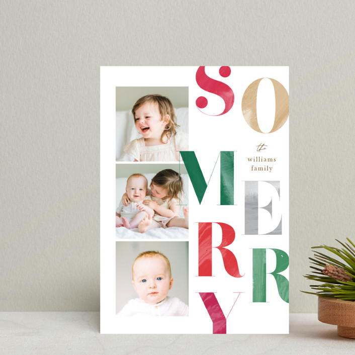 """""""Painted Type"""" - Holiday Postcards in Snow by Robert and Stella."""