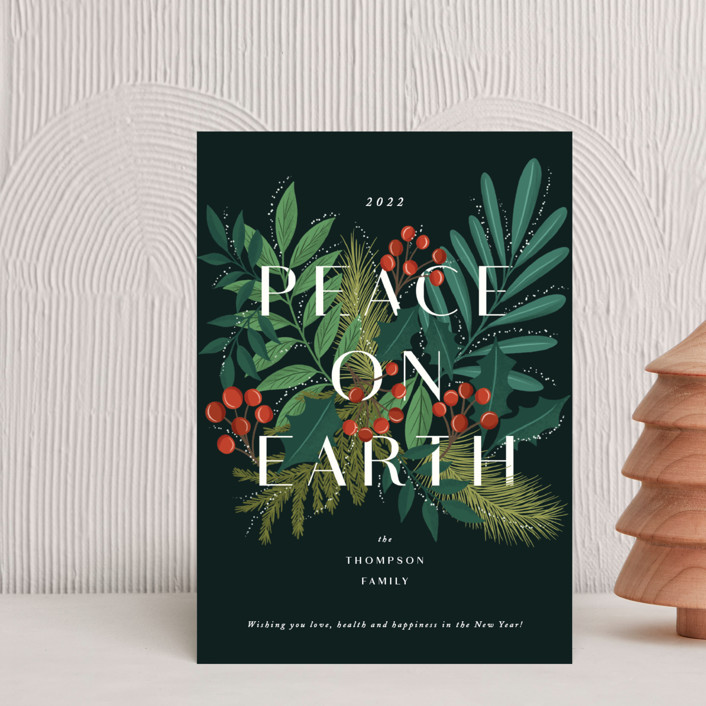 """Abundant peace on earth"" - Holiday Postcards in Midnight by Yaling Hou Suzuki."