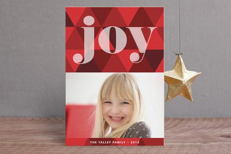 Joy Geometric Holiday Postcards