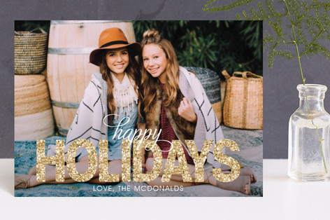 Bold Sparkle Holiday Postcards