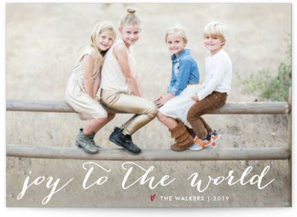 Simple Joy Holiday Postcards
