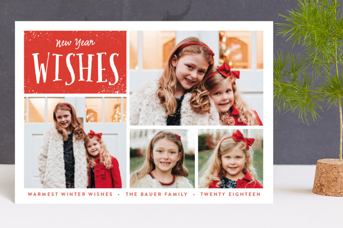 """""""Bright Wishes"""" - Holiday Postcards in Candy Cane by Susan Asbill."""