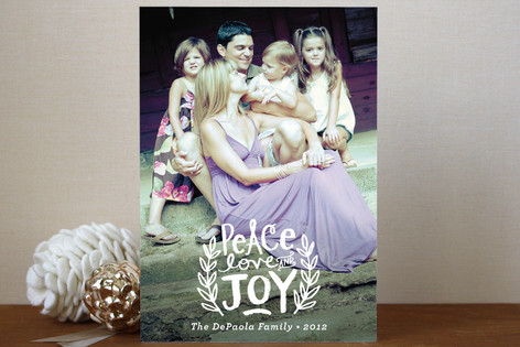 Peace Love and Joy Branches Holiday Postcards
