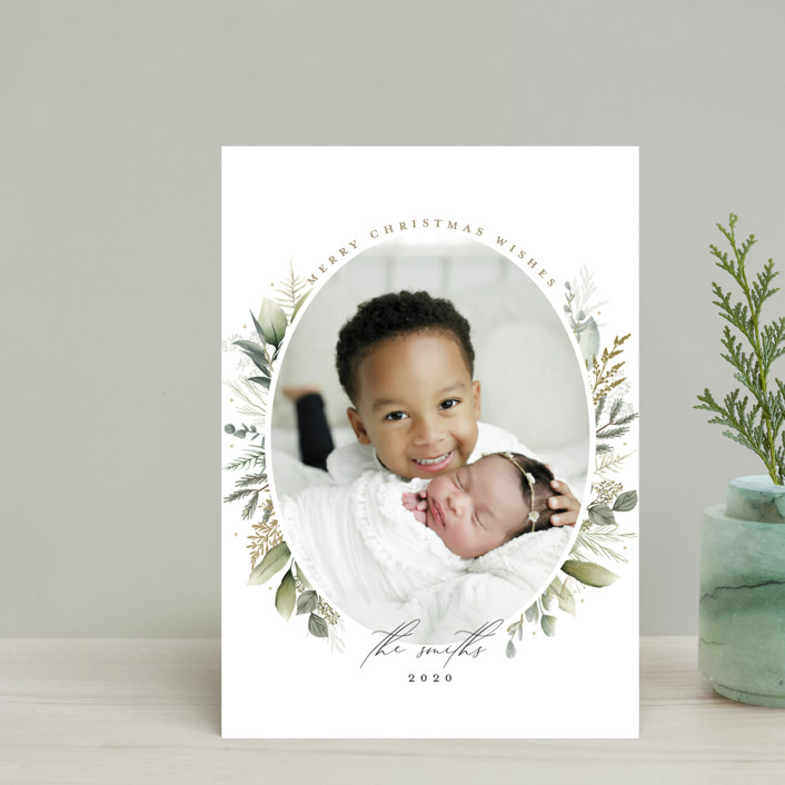 """""""Soft Greenery"""" - Holiday Postcards in Sage by Susan Moyal."""