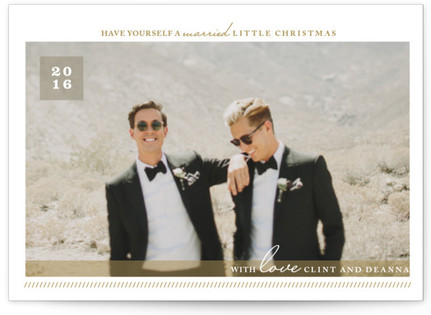 A Married Little Christmas Holiday Postcards