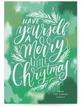 Brush Stroke Lettering Holiday Postcards