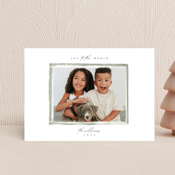 """""""Heirloom"""" - Holiday Postcards in Pine by Robert and Stella."""