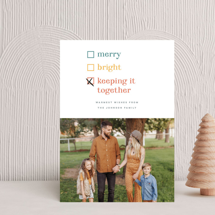 """""""Keeping it together"""" - Funny Holiday Postcards in Cornucopia by Pink House Press."""