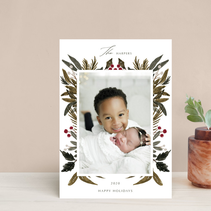 """""""Festive Love"""" - Holiday Postcards in Fern by Elly."""