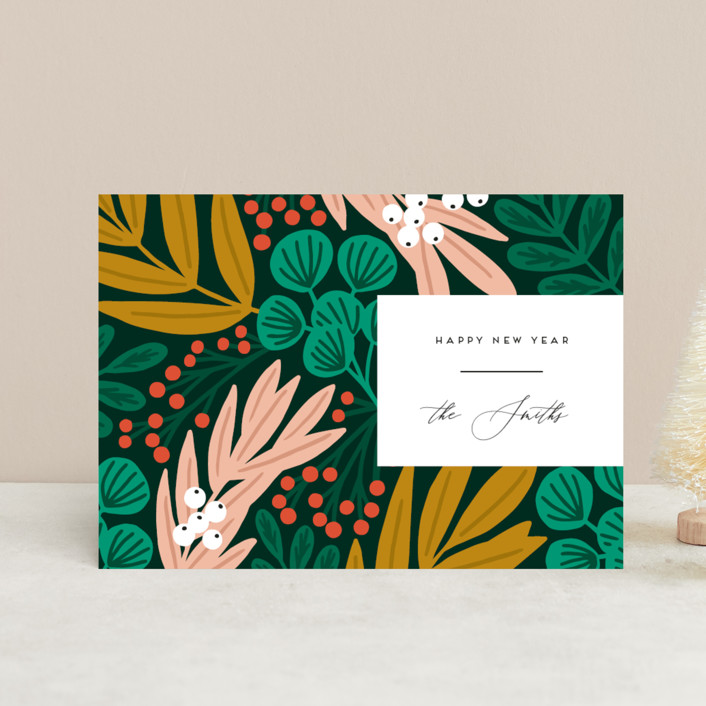 """The Garden"" - Modern Holiday Postcards in Forest by Genna Blackburn."