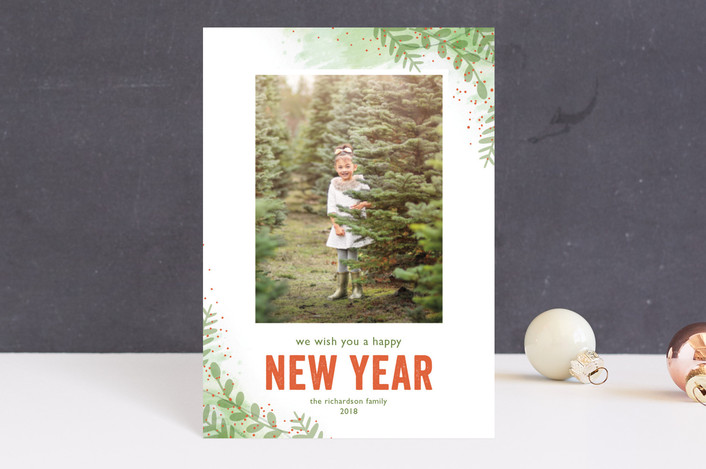 """Winter Sketchbook"" - Holiday Postcards in Frosty Fern by Lorent and Leif."