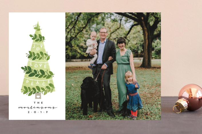 """""""Decorated Tree"""" - Holiday Postcards in Greenery by JeAnna Casper."""