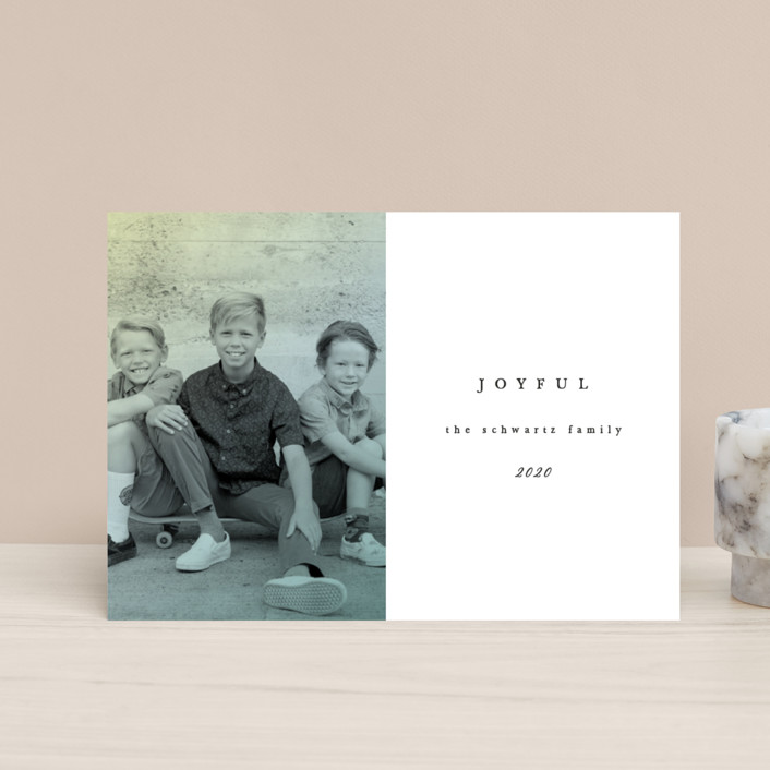 """""""Figure 8"""" - Holiday Postcards in Ivory by carly reed walker."""