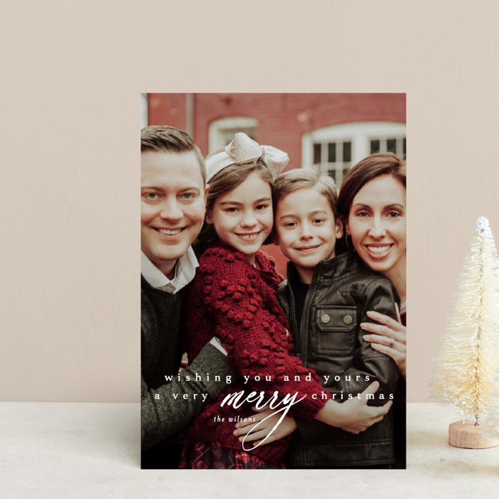"""""""wishing you & yours"""" - Holiday Postcards in Winter by Kasia Labocki."""