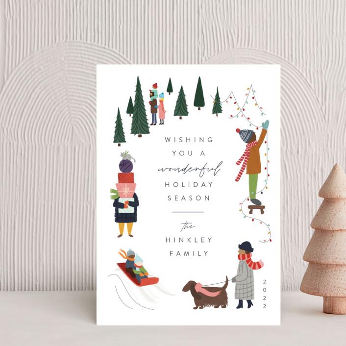 """Wonderful Season"" - Vintage Holiday Postcards in Confetti by JeAnna Casper."