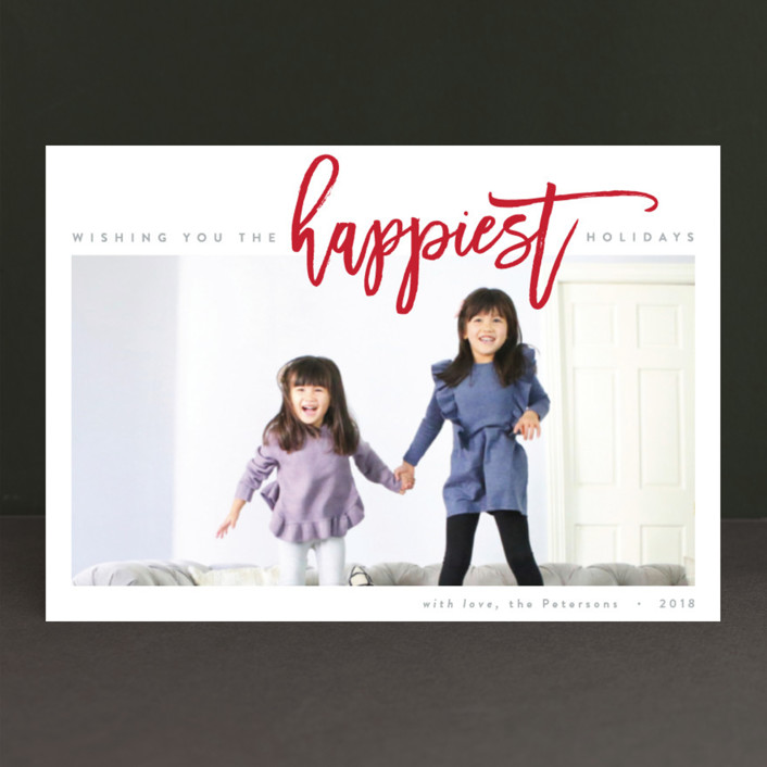 """""""The Happiest Holiday"""" - Holiday Postcards in Berry by JoAnn Jinks."""