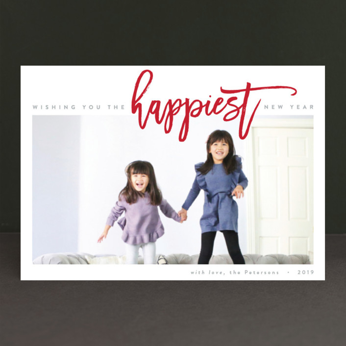 """The Happiest Holiday"" - Holiday Postcards in Berry Red by JoAnn Jinks."