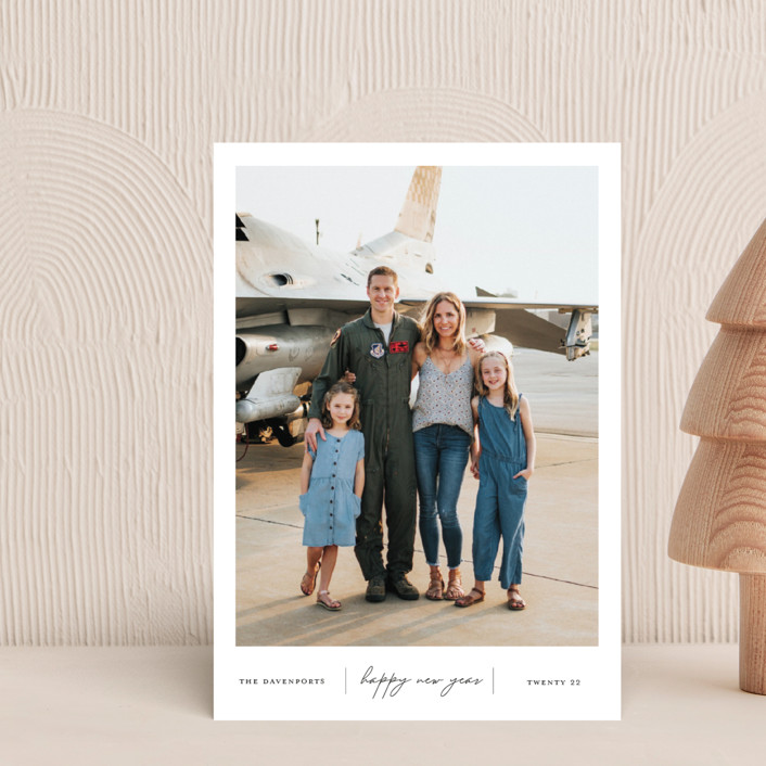 """Happiness"" - Holiday Postcards in Onyx by That Girl Press."