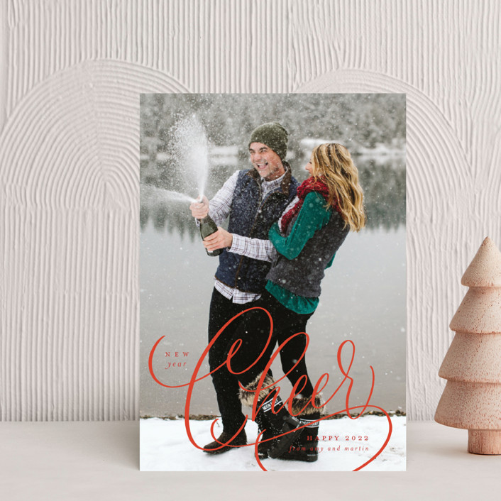 """""""Cheer"""" - Holiday Postcards in Snow by Erin German."""