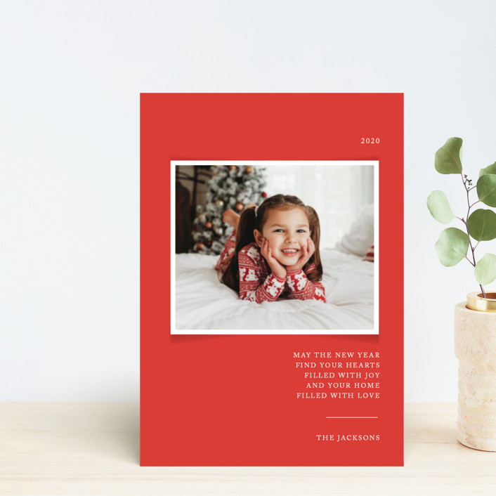 """""""Simplicity"""" - Holiday Postcards in Cardinal by That Girl Press."""