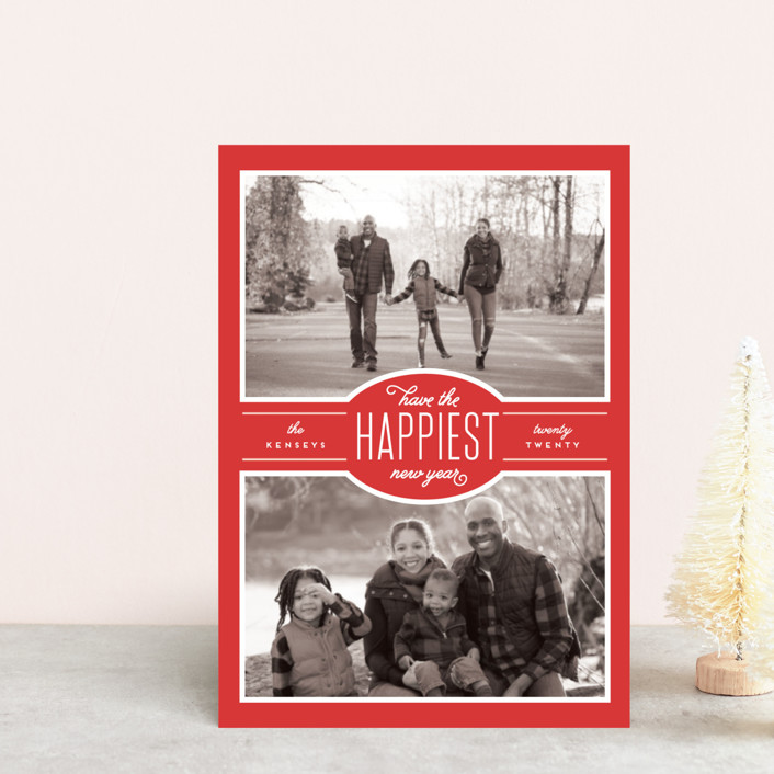 """Blessed Season"" - Holiday Postcards in Peppermint by Leah Bisch."