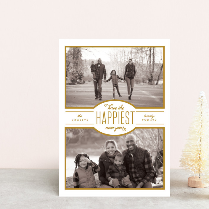 """""""Blessed Season"""" - Holiday Postcards in Honey by Leah Bisch."""