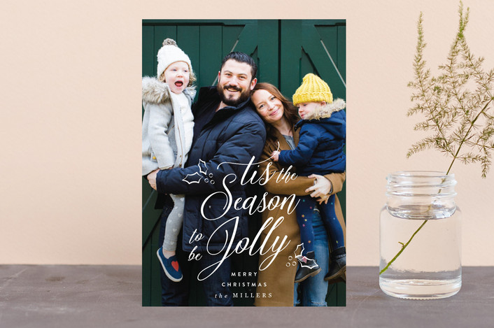 """""""Tis the Season to be Jolly"""" - Holiday Postcards in Snow by Owl and Toad."""