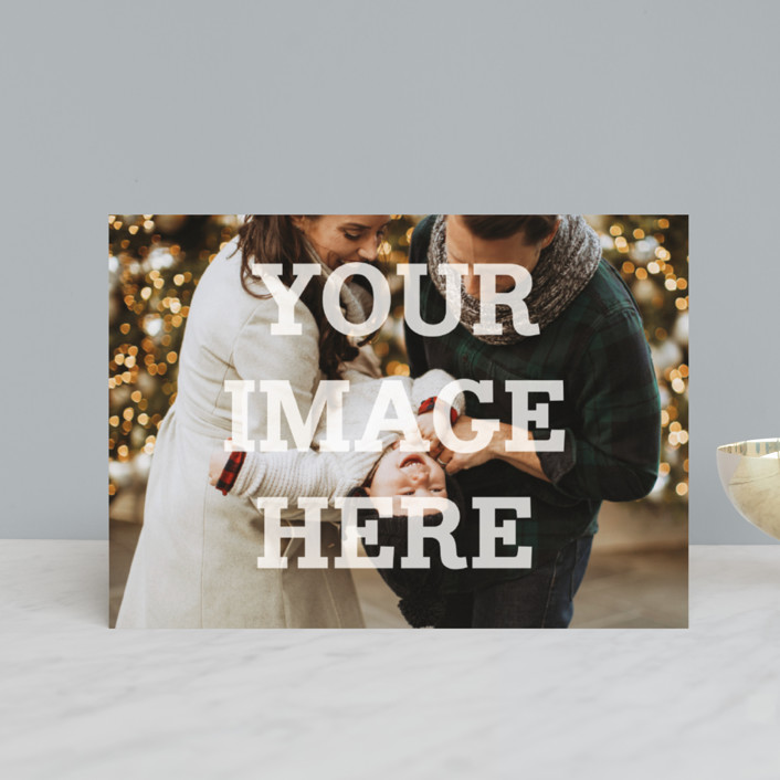 """The Big Picture"" - Holiday Postcards in Winter by Minted."