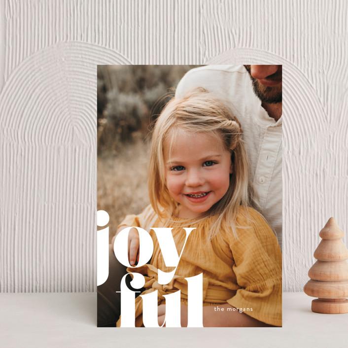 """Joyfully Bold"" - Holiday Postcards in Snow by Ann Gardner."