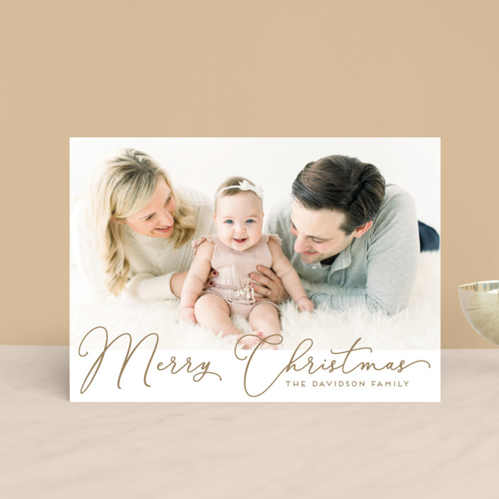 """""""Scripted holiday message"""" - Holiday Postcards in Snowfall by Alexandra Dzh."""