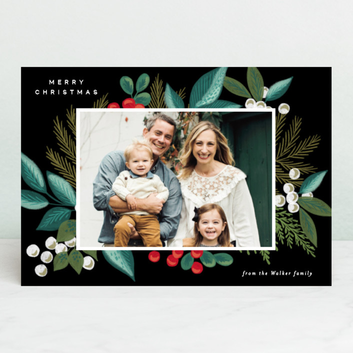 """""""Greenery Spray"""" - Holiday Postcards in Greenery by Alethea and Ruth."""
