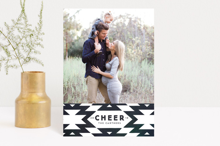 """""""festive nordic"""" - Holiday Postcards in Navy by Rebecca Durflinger."""