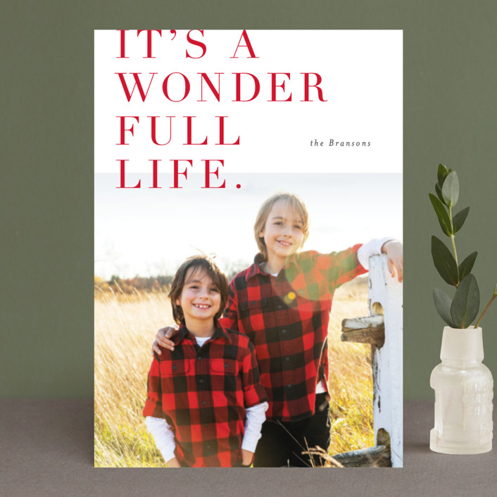 """""""Lush Wonder"""" - Holiday Postcards in Crimson by Carrie ONeal."""