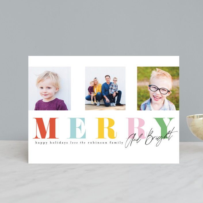 """""""Merry Trifecta"""" - Holiday Postcards in Gumdrop by Ashlee Townsend."""