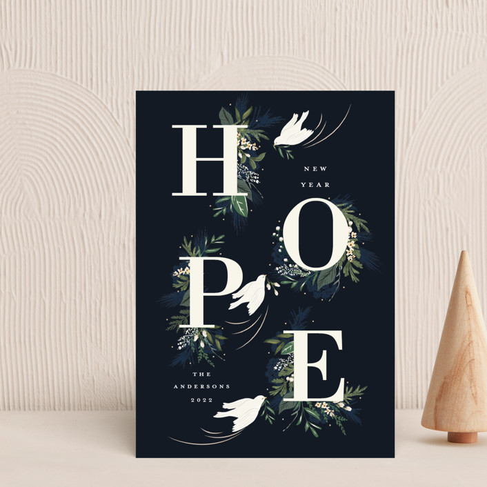 """Hope"" - Holiday Postcards in Winter by Susan Moyal."